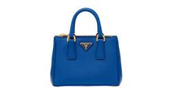 Prada Saffiano Leather Tote Handbag - Cobalt Blue