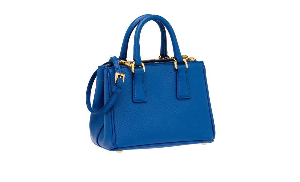 cdaa83822988 new zealand prada saffiano leather tote handbag cobalt blue dc358 db4df