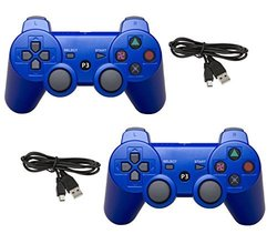 Ps3 Bluetooth Controllers: Blue (2-pack)