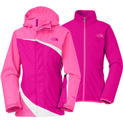 The North Face Girls' Triclimate Ski Jacket - Pink - Size: XL