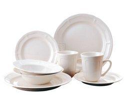 Bianca 16-Piece Dinnerware Set Service For 4 - White
