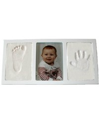 Casting Keepsakes Clay Keepsakes & Photo Wall Frame Kit - White