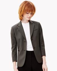 Theory Women's Linworth Wool Jacket - Green - Size: 4