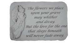 The Flowers We Place Upon Your Grave Memorial Stone