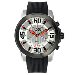 NXS Geiger Swiss Chronograph Men's Watch 22 mm Silicone Strap - Black