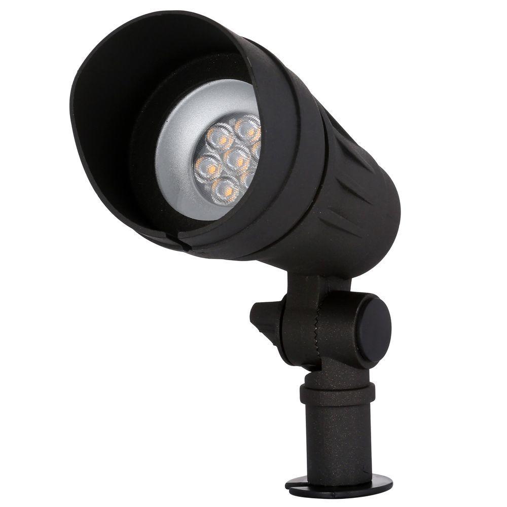 Hampton Bay Low Voltage Led Outdoor Spot Light Black