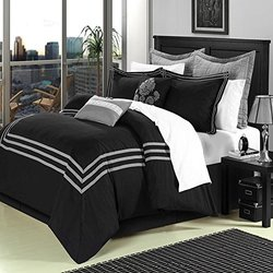 8-PC Cosmo Black King Comforter Set