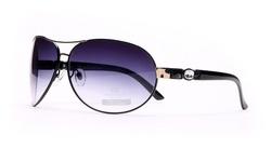 Anais Gvani Women's Sunglasses - Black Frames/Blue Lenses (D118-522-1)