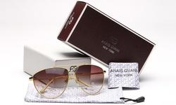 Anais Gvani Women's Classic Aviator Sunglasses - Yellow