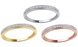 Brilliant Diamond Round Diamond Accent Band - Yellow Gold - Size: 8