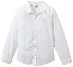 Petit Bateau Button Down Shirt (Toddler Kids) - White - Size: 6 Years