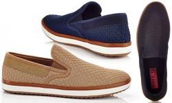 Solo Men's Warren Slip-on Sneakers - Navy - Size: 9