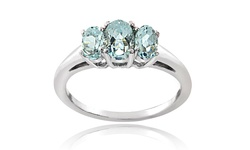Silver Speck Women's 1.00 CTTW Sterling Silver Aquamarine Ring - Size:9