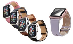 Faly Apple Sports Watch 38mm Genuine Leather Replacement Band - Pink