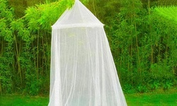 Outdoor Mesh Canopy Mosquito Net - White