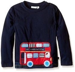 JoJo Maman Bebe Bus Top (Toddler/Kid) - Navy-4-5 Years