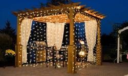 ImounTek Warm White String Curtain Light 300 LED