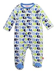 Zutano Enzos Elephants Footie - White - Size: New Born