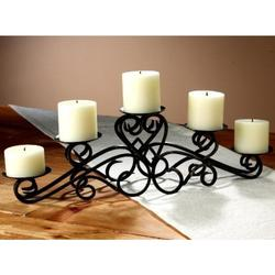 Keller Pillar Candle Holder Metal Centerpiece Display