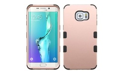 Hard PC/Silicone Case For Samsung Galaxy S6 Edge Plus - Rose Gold/Black