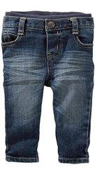 OshKosh B'gosh Pull On Pants - Faded Blue - Size: 9 Months
