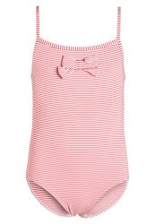 Petit Bateau Seersucker Swimsuit (Toddler/Kid) - Pink/White - Size: 4 Y