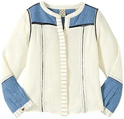 Scotch & Soda Shirt with Stitch Detail for Kid's - White - Size: 8 Years