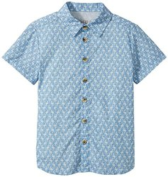 Wheat Kid's Conrad Shirt - Blue - Size: 3 Years (Toddler)