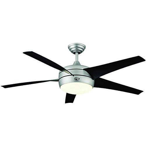 Hampton bay windward ii 54 ceiling fan w light brushed steel hampton bay windward ii 54 ceiling fan w light brushed steel 55295 mozeypictures Images
