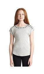 Ella Moss Caroline Top - Heather Gray - Size: 7/8