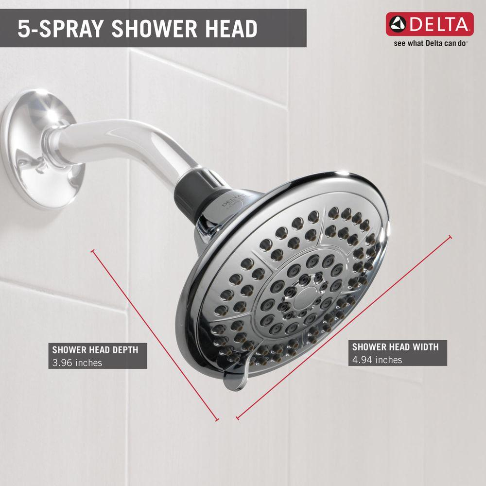 Delta 5-Spray 5 inch Shower Head with Pause - Chrome - Check Back ...