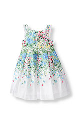 Janie & Jack Floral Sateen Dress - White Floral - Size: 2T(Toddler)