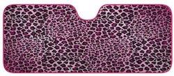 Car Window Shade: Accordian Shade/Pink Leopard - Standard