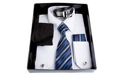 Berlioni Men's 6pc Dress Shirt - White - Size: XL