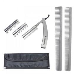 Burmax Hair Styling Razor Kit - Silver (SC-RZKT)