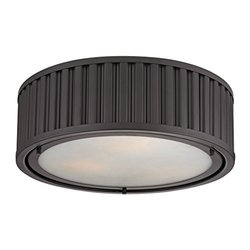 Elk Lighting Linden Collection 3 Light Flush Mount - Oil Rubbed Bronze