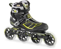 Rollerblade Men's Tempest 110 Performance Skate, Black/Green, 9