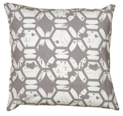 """Rizzy Home Two Sided Printed Details Decorative Pillow - Gray - 20""""x 20"""""""