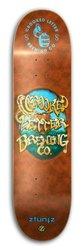 "ZtuntZ Crooked Letter Skateboard - Blue/Brwn - 7.5"" x 31"" x 14"" - WB"