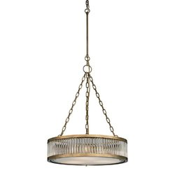 Elk Lighting Linden Collection 3 Light Pendant - Aged Brass (46125/3)