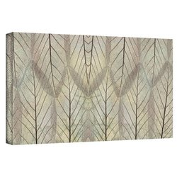 Cora Niele's Leaf Design Gallery Wrapped Canvas - Size: 18' x 36""