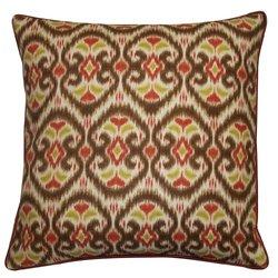 """Jiti Bali Cotton Square Throw Pillow - Tan - Size: 20"""""""