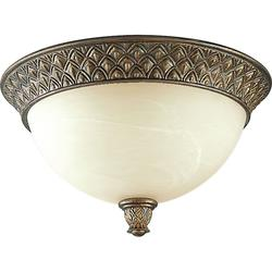 Savannah Collection 2-Light Burnished Chestnut Flushmount Light (P3539-86)