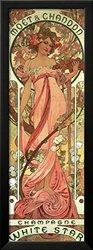 """Art.com Poster Advertising 'Moet and Chandon White Star' Champagne - 36""""X14"""""""