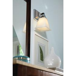 1-Light Chrome Wall/Bath Sconce w/ White Painted Etched Glass (4150401-05)