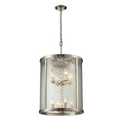 Elk Lighting Chandler 8-Light Pendant - Polished Nickel (31463/8)