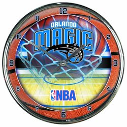 NBA Orlando Magic Chrome Clock