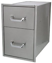 Solaire Narrow/Deep Stainless Steel Drawer Set for Built-in Islands