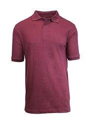 Harvic Men's Premium Quality Pique Polo - Burgundy - Size: 2XL