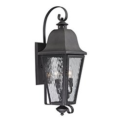 Elk Lighting Forged Brookridge Collection 3 Light Outdoor Sconce -Charcoal